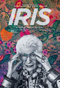 Extra Large Movie Poster Image for Iris #movie #pattern #documentary #floral #iris #cinema #poster #apfel
