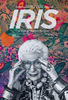 Extra Large Movie Poster Image for Iris #movie #pattern #documentary #floral #iris #cinema #poster #apfel
