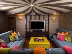 20+ Cool Basement Ceiling Ideas #basement #ceiling #interior #architecture
