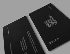 Brian Lam #card #business #stationery