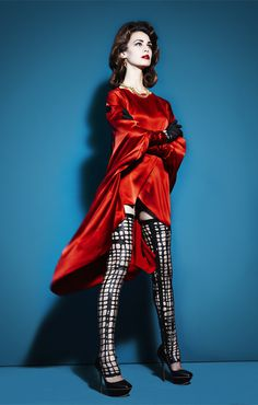 Marc Pritchard - The Quarterly #red #print #inspired #photography #fashion #blue