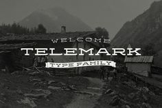 Fonts - Telemark by Juri Zaech - YouWorkForThem #youworkforthem #label