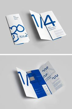 Potential | PUBLICATION #layout #blue #brochure #folder