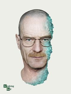 Breaking Bad Poster featuring Walter White / Bryan Cranston by Shelby White #white #breaking #photo #manipulation #shelby #bad