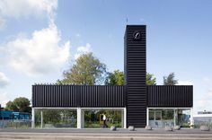 NL architects convert containers into barneveld noord station #container