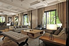 Fascinating Living Space Royally Mixing Design Styles in Ankara, Turkey #classic #design #living-room #modern