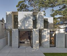 Two Storey Concrete and Timber Frame House - #architecture, #house, #home, home, architecture