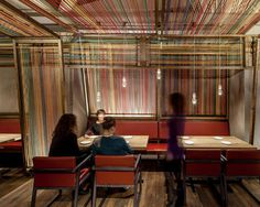 Restaurant Interior With Colourful Textile Decor
