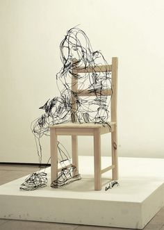Colossal | An art and design blog. #sculpture #wire
