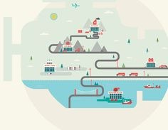 The Engine Room on the Behance Network #illustration #texture #engine