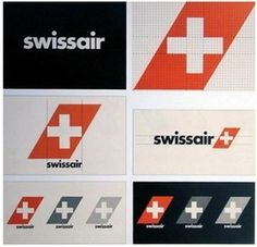 Design - Logos #swissair #logotype #airplane