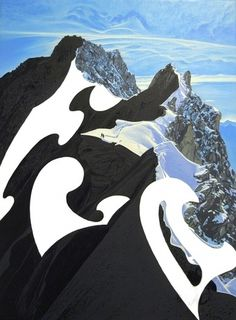 Alexander Heaton #nature #geometry #paintings #mountains