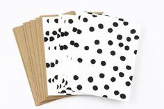 Black and White Dots Card Set