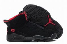 Air Jordan 6 Retro Black/Red Kids's #shoes