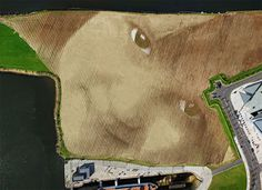 A Monumental 11 Acre Portrait in Belfast by Jorge Rodríguez Gerada #land #portrait #art #landscape