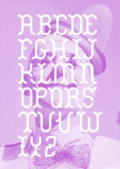 Graciosa typeface #design #typography #pink #modular #clown