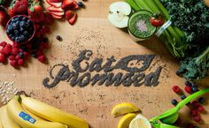 Beautiful food typography