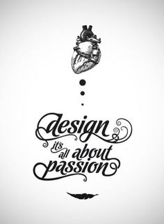 type & lettering on the Behance Network #heart #type #design #passion