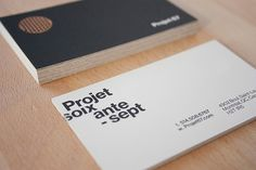Projet 67 #business #branding #print #stationery #cards