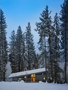 nl_190611_02 » CONTEMPORIST #modern #design #snow #architecture #cabin #forest