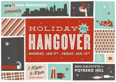 Design Work Life » cataloging inspiration daily #card #design #holiday #vintage #hangover