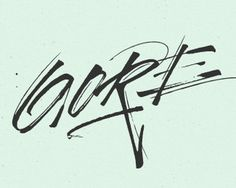 Gore Vidal 2 #typography #logo #logotype #handwriting #handwritten