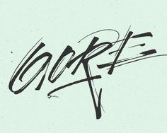Gore Vidal 2 #typography #logo #logotype #handwriting #handwritten