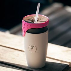 Convert from a mug to a straw-friendly spill-proof bottle with its innovative twisting lid. #design #product #industrial #modern #lifestyle