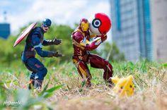 Stunning Mashup Photos of Superhero Action Figures by Japanese Photographer Hotkenobi