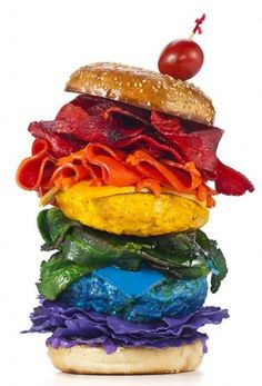Henry Hargreaves #rainbow #burger