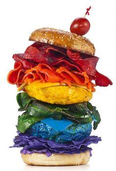 Henry Hargreaves #rainbow #burger