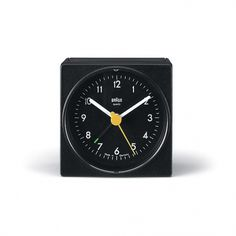 M O O D #design #yellow #braun #rams #clock #dieter