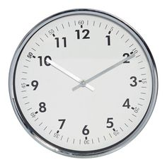Reath Silver & White Wall Clock, 30 cm D