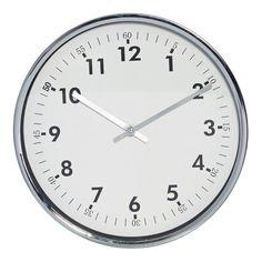Reath Silver & White Wall Clock, 30 cm D