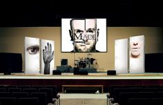 . #stage #church #design #together #black #acting #layout