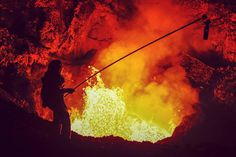 Photographer Ulla Lohmann Lowers Herself Into Active Volcanoes