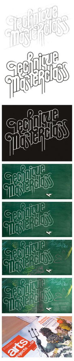 Technique Masterclass André Beato #drawn #graphic #hand #typo