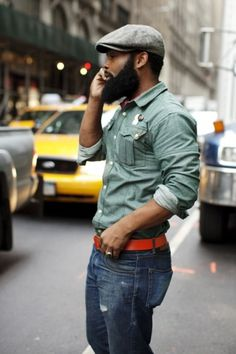 The Sartorialist #belt #beard #nyc #style #buttons