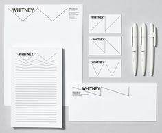 Whitney Logo and Identity #whitney #identity #experimental jetset