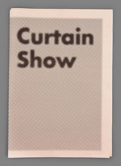 void() #halftone #curtain #show #typography