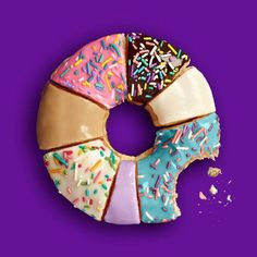 purple, donut