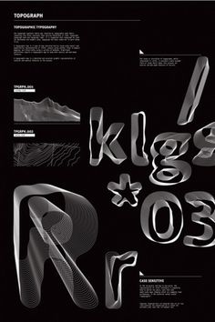 TYPOGRAPHY EXPLORING TOPOGRAPH TYPEFACE on the Behance Network