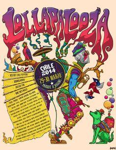 Lollapalooza 2014 #chile #poster #lollapalooza