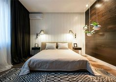 Fresh Design of Modern Urban Home by SVOYA Studio contemporary white and brown bedroom decor