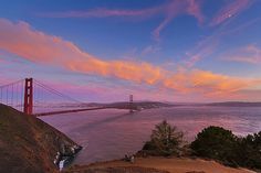 Golden Gate Sunset by Carl Larson #photography #landscape