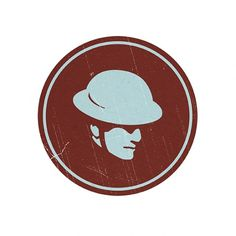 Tinhat Records on the Behance Network #logo #flood #claret