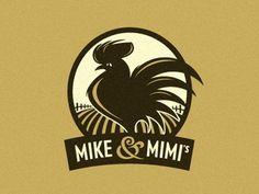 Mikenmimis #rooster #badge #branding #vintage #logo