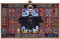 The Holy Batman #pattern #toy #painting #batman