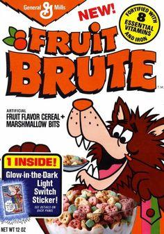 Fruit Brute cereal box design