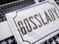 Boss Lady. Multimedia. #kallos #handlettering #lettering #typography #sleeve